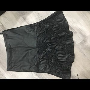 Brand new lambskin leather skirt knee length